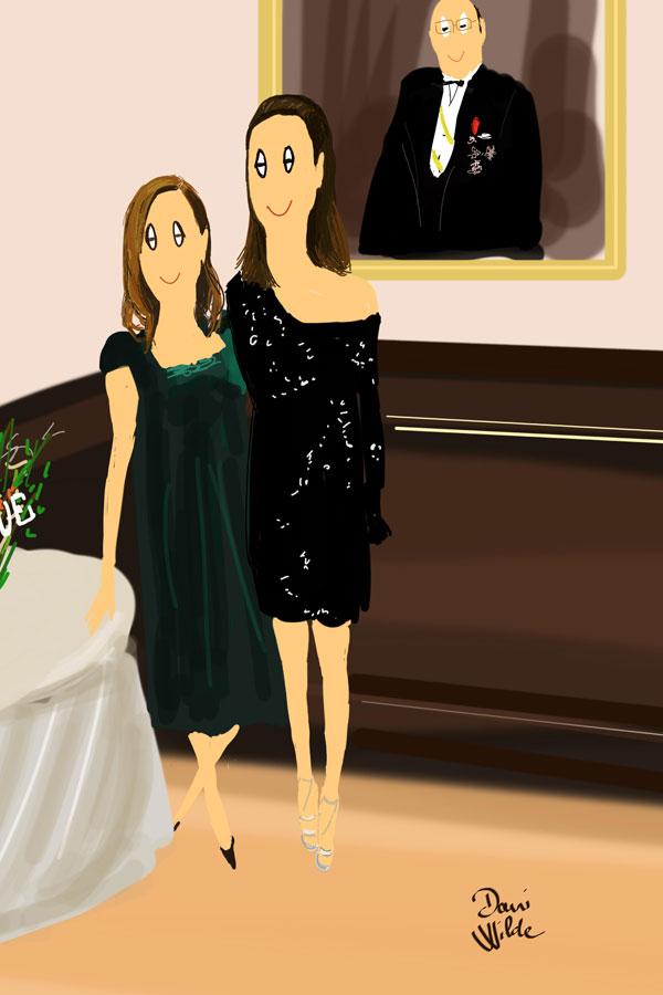 Las hermanas De Molina, se preguntarán si iba en serio cuando Dani les propuso hacerle un retrato juntas.
