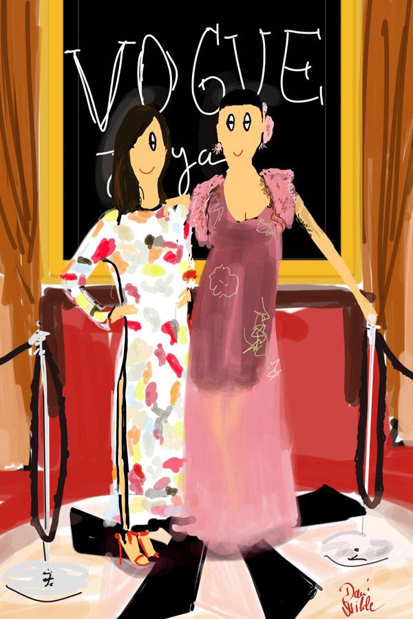 Mi querida Rossy y Yolanda Sacristán , dos verdaderas joyas en la fiesta Vogue joyas!